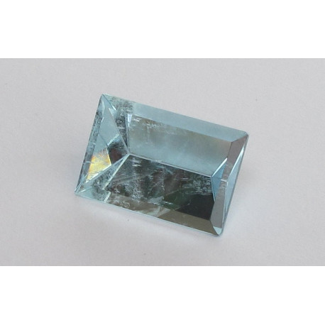 Aquamarin Rechteck Spiegelschliff 11,85 Karat-Edelsteine