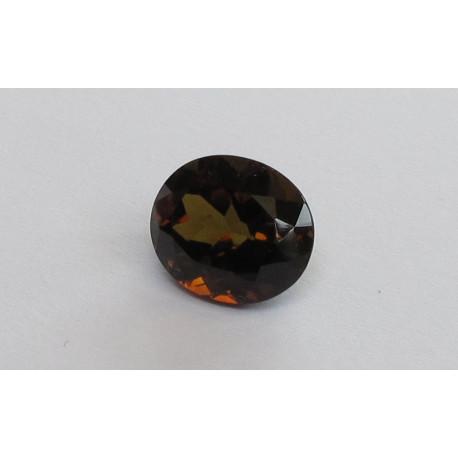 Turmalin braun oval facettiert 7,35 Karat-Edelsteine