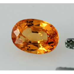 Mandarin-Granat oval facettiert Spessartin 1,99 Karat