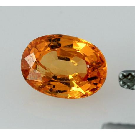Mandarin-Granat oval facettiert Spessartin 1,99 Karat-Edelsteine