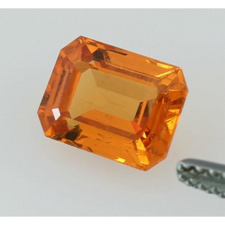Spessartin im Treppenschliff oranger Mandaringranat Oktagon 2,77 Karat-Edelsteine