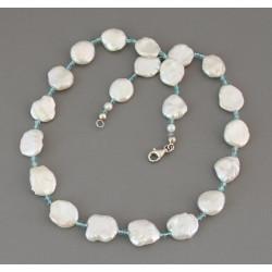 Perlenkette Keshi-Perlen mit Apatit Halskette für Damen 47,5 cm