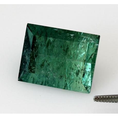 Indigolith blau-grüner Turmalin Rechteck 35,38 ct.-Edelsteine