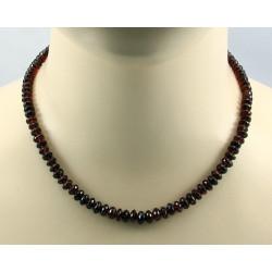 Granatkette facettierte rote Granat Halskette 45 cm