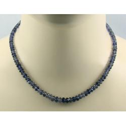 Iolith Kette blaue facettierte Halskette 44 cm lang