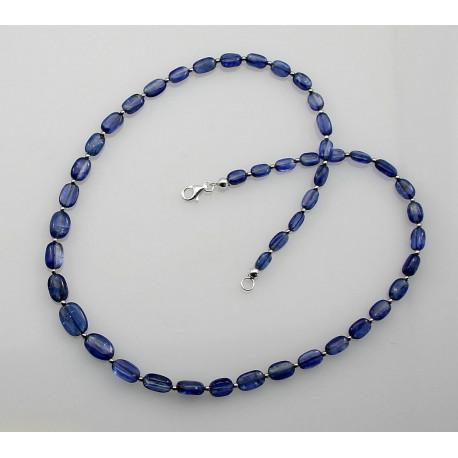Blaue Kyanit Kette - 45,5 cm lang-Edelsteinketten