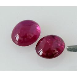 Rubin Cabochons - 2,78 Karat-Edelsteine