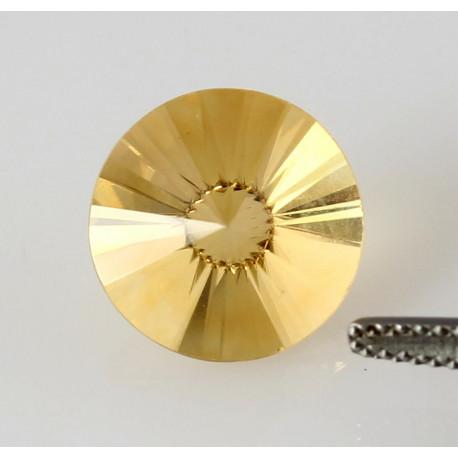 Citrin - 12 mm rund facettiert 5,62 Karat-Edelsteine