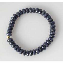Saphir Armband - facettierter blauer Saphir - 19 cm lang-Edelstein-Armbänder