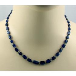 Cyanit Kette - blaue Kyanite - 45 cm lang
