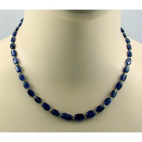 Cyanit Kette - blaue Kyanite - 45 cm lang-Edelsteinketten