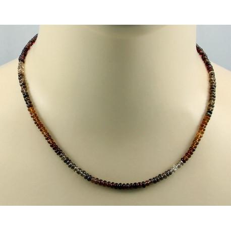 Saphir Kette - mehrfarbige Saphir Rondelle aus Afrika - 45,5 cm-Edelsteinketten
