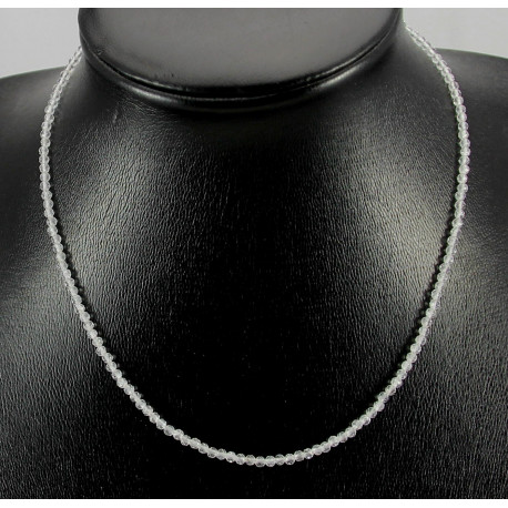Topas Kette - weißer Topas - 43,5 cm-Edelsteinketten