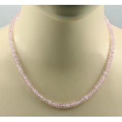 Morganit Kette - rosa Beryll facettiert - 47 cm lang