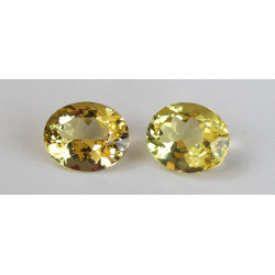 Goldberyll Paar oval facettiert 6,91 Karat