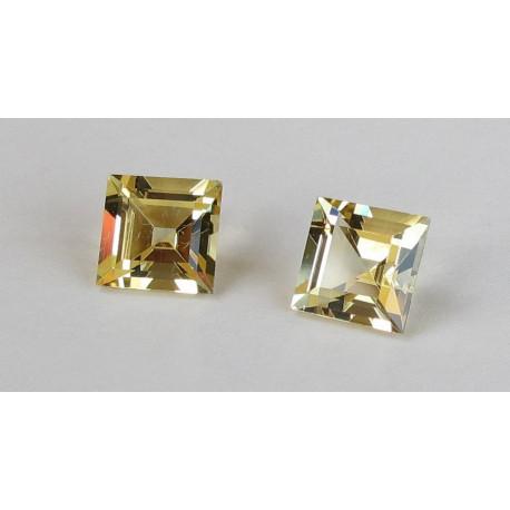 Goldberyll Paar Quadrate facettiert 3,26 Karat-Edelsteine