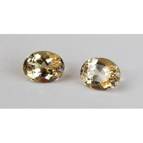 Beryll Paar oval facettiert 4,18 Karat-Edelsteine