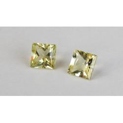 Goldberyll Paar Quadrate facettiert 1,27 Karat