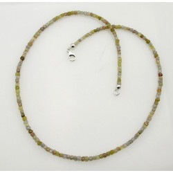 Diamant Kette - naturfarbene Diamanten in Würfel Form 35 Karat-Edelsteinketten