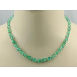 Smaragd Kette - grüne Smaragde aus Russland Halskette 45 cm