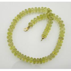 Lemoncitrinkette - Lemoncitrin Halskette facettiert für Damen 46,5 cm
