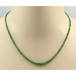 Tsavorit Kette - grüne Granat Halskette facettiert 48,5 cm