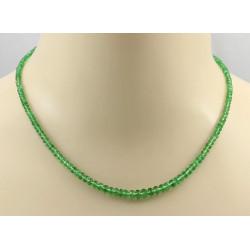 Tsavoritkette - grüner Tsavorit-Granat facettiert Halskette 45 cm-Edelsteinketten