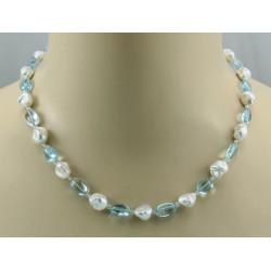 Keshi-Perlenkette mit Topas Halskette für Damen 47,5 cm