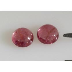Rosa Turmalin Cabochons 2x Rubellit rund 9 mm