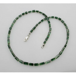 Grüne Turmalinkette - Verdelith Kristalle mit Prehnit