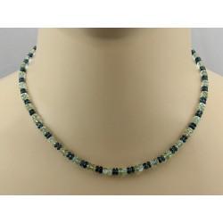 Heliodorkette mit Kyanit Halskette Damen 42,5 cm