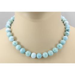 Larimarkette - Atlantisstein blauer Pektolith Halskette