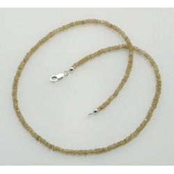 Zirkon Kette natur beige facettierte Edelsteinkette für Damen 44,5 cm