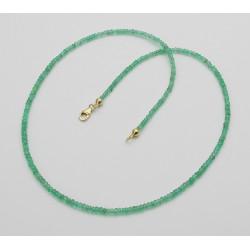 Facettierte Smaragd-Kette 24 Karat 45 cm lang-Edelsteinketten
