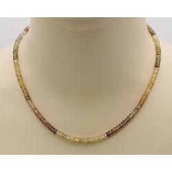 Facettierte Zirkon-Kette - Natur-Zirkone multicolour Halskette-Edelsteinketten