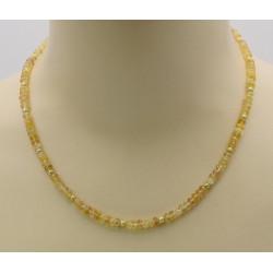 Topas-Kette gold facettiert mit Perle 48 cm-Edelsteinketten