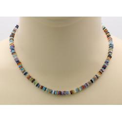 Edelsteinkette - bunte Edelstein Halskette für Damen 43,5 cm