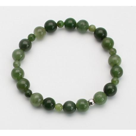 Jade Armband - grünes Nephrit-Jade Armband19 cm