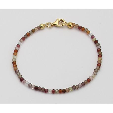 Saphir Armband multicolour facettiert 19 cm