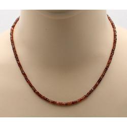 Zirkon Kette facettiert rot braun, 46cm-Edelsteinketten