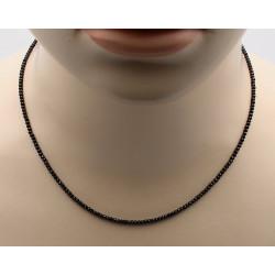Spinell Kette schwarz facettiert 47 cm lang-Edelsteinketten
