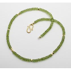 Peridot Armband facettiert mit S-Haken 46,5 cm lang