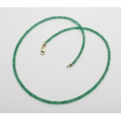 Smaragd-Kette - facettierte Smaragde aus Kolumbien 44,5 cm