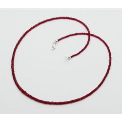 Rubin-Kette - Halskette aus facettierten Rubinen 32 kts