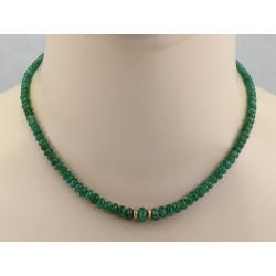Smaragd Halskette in Rondell-Form 43 cm lang