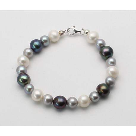 Perlen Armband, tricolour-Perlenschmuck