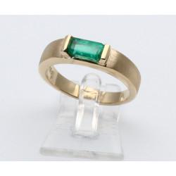 75er Goldring mit Smaragd in Ringgröße 53
