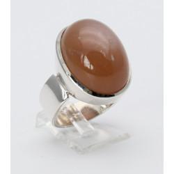 Silber-Ring mit Mondstein dreifarbig Ringgröße 56