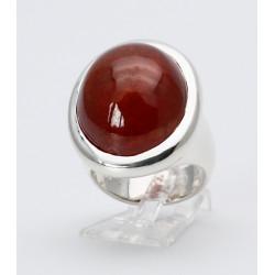 Silber-Ring mit Spessartin-Granat von 50,5 ct Ringgröße 55