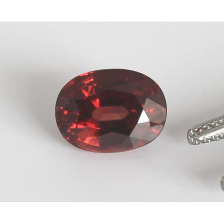 Zirkon rot oval facettiert Hyazinth 5,71 Karat